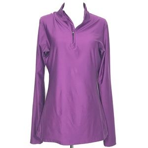 BCG Purple 1/4 Zip Athletic Workout Top A130348